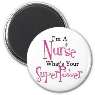 Super Nurse 6 Cm Round Magnet