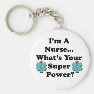 Super Nurse Basic Round Button Key Ring
