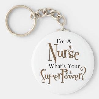 Super Nurse Basic Round Button Key Ring