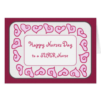 Super Nurse - Happy Nurses Day Customizable Card