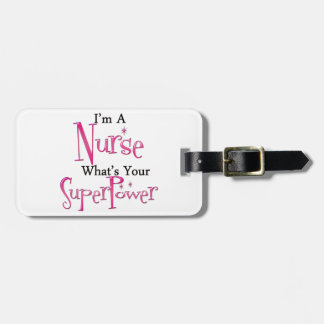 Super Nurse Luggage Tag