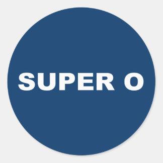 SUPER O STICKER