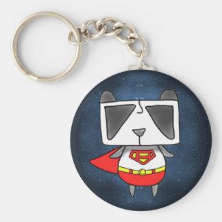 Super Panda Basic Round Button Key Ring