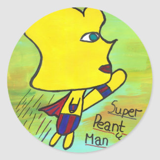 Super Peanut Man sticker