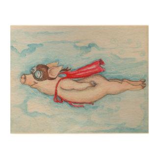 Super Pig the Red Capped Wonder Wood Prints
