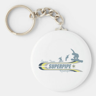 Super Pipe Basic Round Button Key Ring