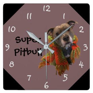 Super Pitbull Wall Clock