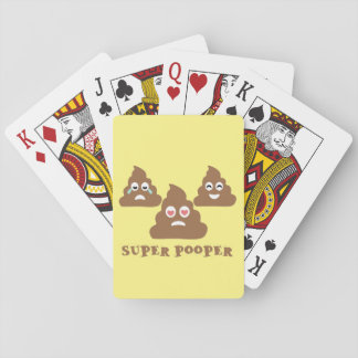 Super Pooper Emoji Playing Cards