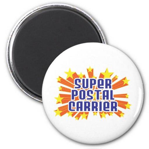 Super Postal Carrier Fridge Magnets