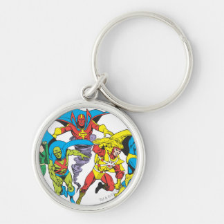 Super Powers™  Collection 10 Silver-Colored Round Key Ring