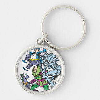 Super Powers™  Collection 13 Silver-Colored Round Key Ring