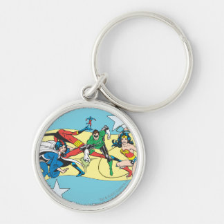 Super Powers™  Collection 14 Silver-Colored Round Key Ring