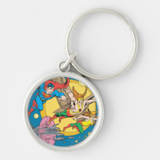 Super Powers™  Collection 15 Silver-Colored Round Key Ring