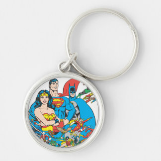 Super Powers™ Collection 1 Silver-Colored Round Key Ring