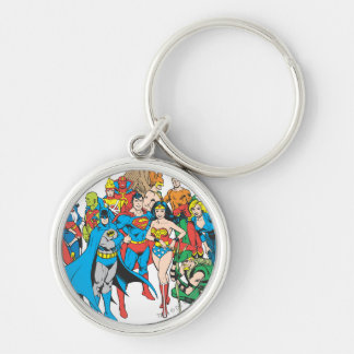 Super Powers™ Collection 2 Silver-Colored Round Key Ring