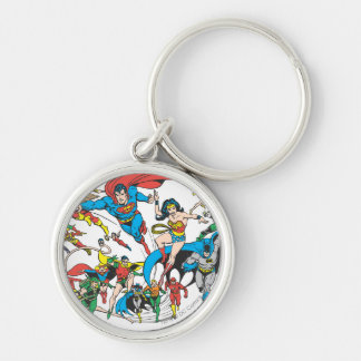 Super Powers™ Collection 3 Silver-Colored Round Key Ring
