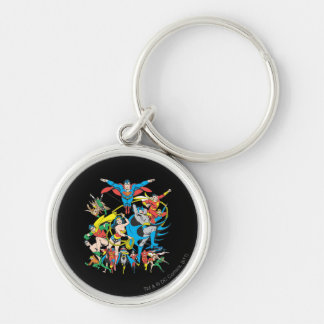 Super Powers™ Collection 4 Silver-Colored Round Key Ring