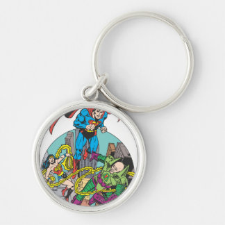 Super Powers™ Collection 6 Silver-Colored Round Key Ring