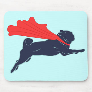 Super Pug Mouse Pad
