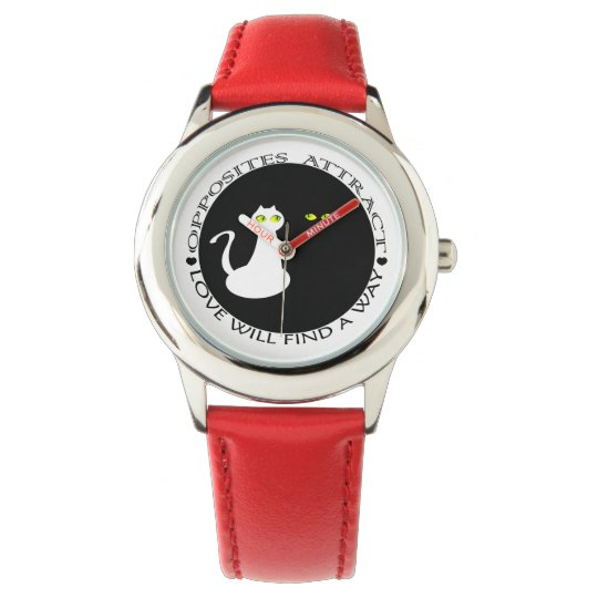 Super Red Black Cool Love Cats Girly Adorable Watches