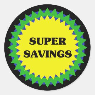 SUPER SAVINGS Retail Sale Sticker