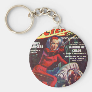 Super Science Basic Round Button Key Ring