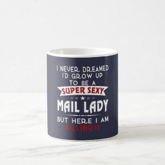 Super sexy mail lady basic white mug
