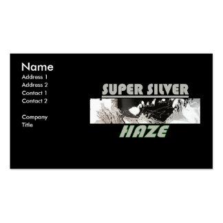 SUPER SILVER HAZE BUSINESS CARD TEMPLATE