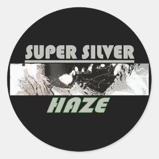 SUPER SILVER HAZE ROUND STICKER