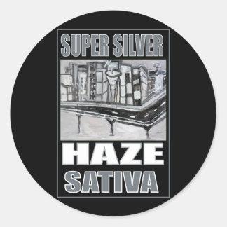 SUPER SILVER HAZE SATIVA ROUND STICKER
