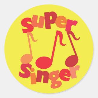 Super Singer Classic Round Sticker
