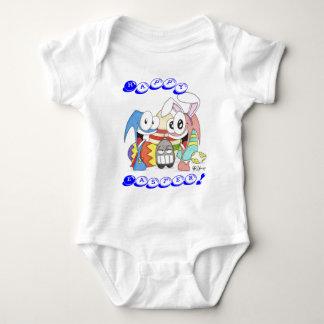 Super Slug and Chuck Easter Baby Bodysuit