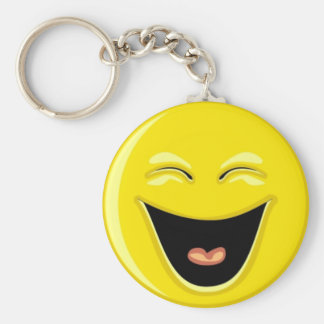 Super Smiley Basic Round Button Key Ring