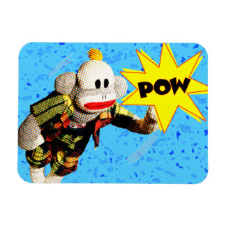 Super SockMonkey Hero Rectangular Photo Magnet