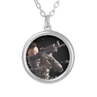 Super Soldier Silver Plated Necklace