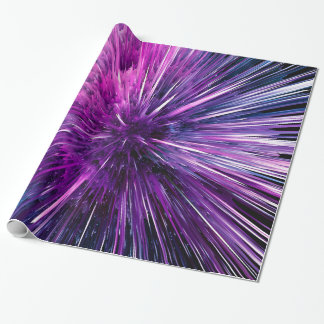 Super sonic - gorgeous purple wrapping paper