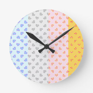 Super soul Party hearts Round Clock