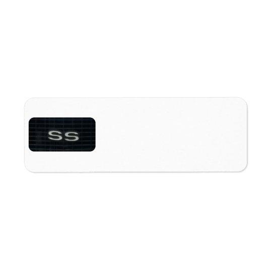 Super Sport Classic Car SS emblem Symbol Return Address Label