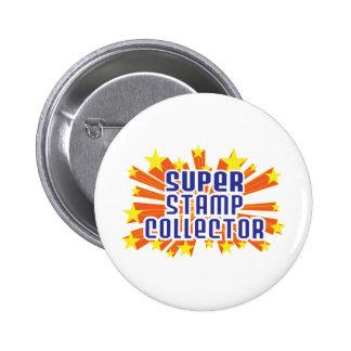 Super Stamp Collector Pinback Button