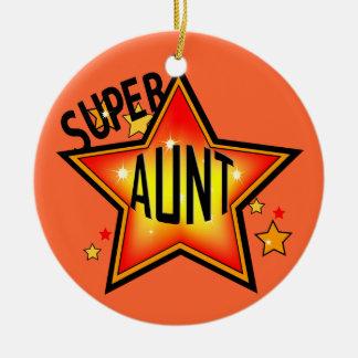 Super Star Aunt Christmas Ornament