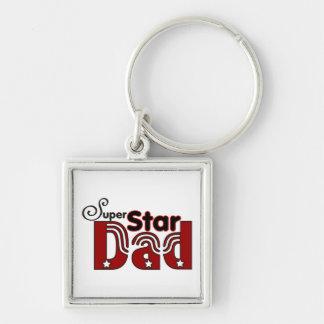 Super Star Dad Keychain