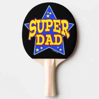 Super Star Dad Ping Pong Paddle