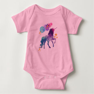 Super Star Galaxy Unicorn Baby Bodysuit