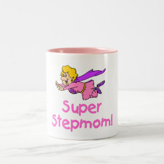 Super Stepmom (Flying) Two-Tone Coffee Mug