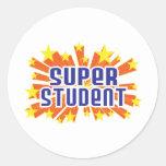 Super Student Round Sticker