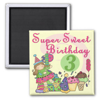 Super Sweet 3rd Birthday Tshirts and Gifts Magnet