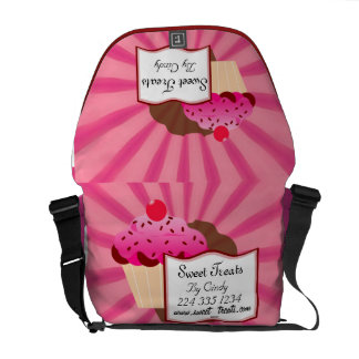 Super Sweet Cupcake Bakery Messenger Bags