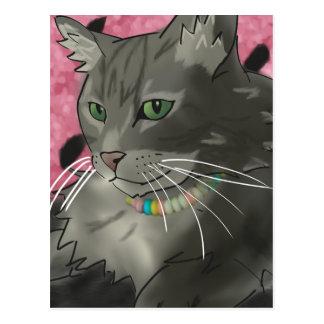Super Sweet Gray Kitty Cat Postcard