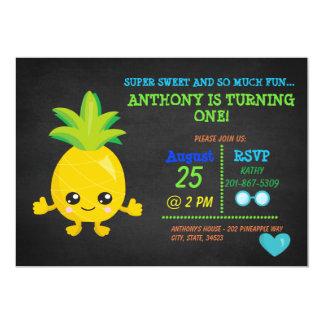 Super Sweet Pineapple First Birthday Invitation