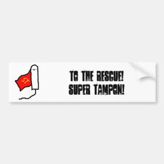 Super Tampon Bumper Sticker